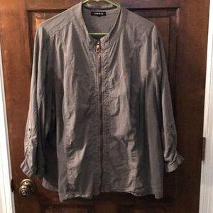Torrid Gray Lightweight Zip-up Jacket